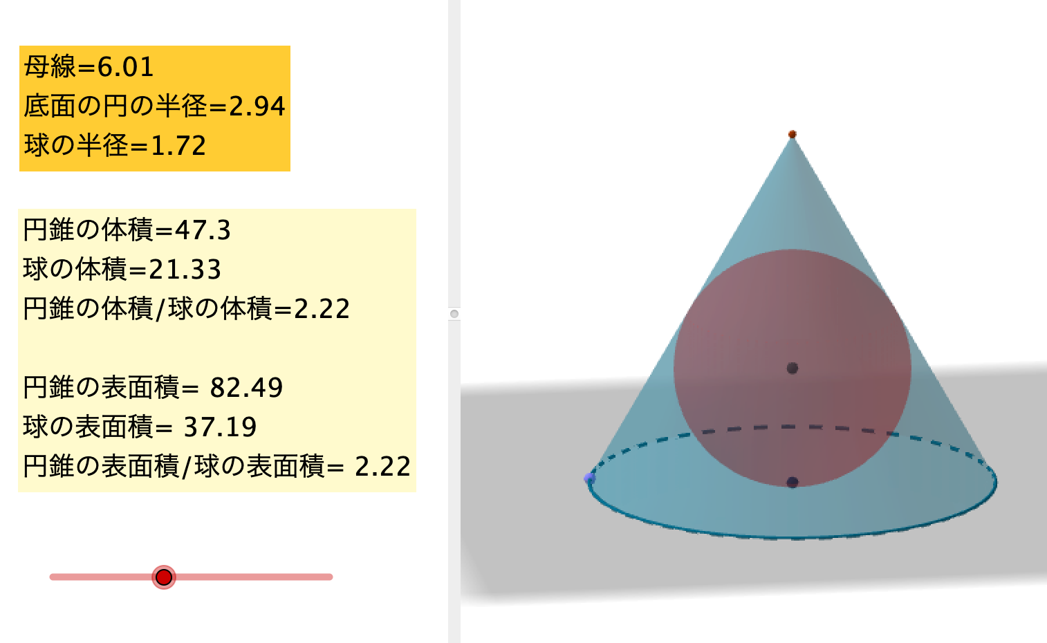 円錐 の 体積